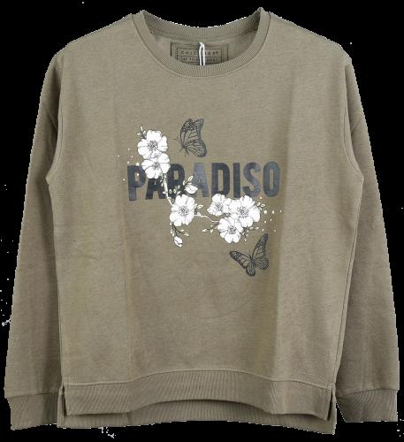 Paradise Sweat Shirt   65  Polyester 35  Cotton, Inside Brushed, 240g