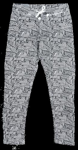 Taya Black Pants  95  Cotton 5  Elastane,  French Terry,  AOP, 240g