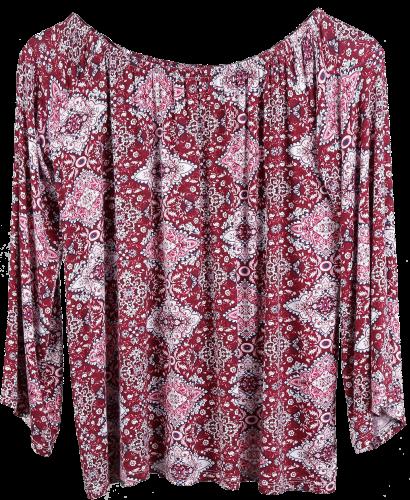 Sona Print Shirt    95  Viscose 5  Elastane, SJ, AOP, 180g